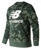 New Balance Essentials Stacked logo Crew Felpa Cappuccio Hoodie Camouflage Uomo