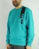 Sports crewneck sweatshirt Diadora crew ICON Cotton Man GREEN WATER