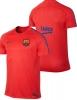 Barcellona Nike Maglia Allenamento Training Dry Squad Rosso 2016 17