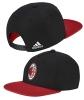 Flat Hat Cap AC Milan Adidas Original Black Man 2017 18