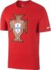 crest tee Portogallo Nike T-shirt tempo libero Mondiali 2018 Rosso cotone