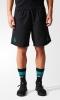 Real Madrid Adidas Pantaloncini Shorts tasche a zip Nero Woven 2017 18