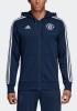 Manchester United Adidas Giacca Felpa cappuccio sportiva jacket 2018 19 Blu