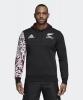 All Blacks New Zealand Adidas Felpa Cappuccio Hoodie Nero MAORI 2018 19 cotone