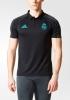 Real Madrid Adidas Polo Maglia Shirt CL Nero 2017 18 Uomo