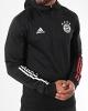Training Hooded Sweatshirt Half zip BAYERN Adidas men 2020 21 original Black
