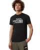 Leisure t-shirt The North Face MS / S WOOD DOME Cotton short sleeves Man Black