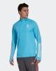 Training Sweatshirt Half zip REAL MADRID Adidas Man 2021 Celeste original
