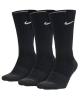 Socken Nike Evry Max Cush Crew 3pr Packung mit 3 Paaren Unisex Black