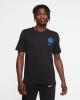T-shirt leisure INTER FC Nike voice cotton man black 2020 21