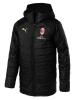 Jacket Duvet Padded Jacket AC MILAN Version Bench long Original Man 2018 19 Black