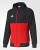 Adidas Giacca Rappresentanza Pres Jacket Cappuccio Uomo Rosso tasche con zip