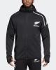 Pre Match Jacket All Blacks New Zealand Rugby Adidas Anthem Zone Original Black Hoodie 2019