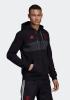 Sport sweatshirt jacket Manchester United adidas Hoodie 3 Stripes Full Zip original men\'s 2019 Black