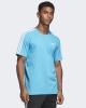 T-shirt Jersey free time adidas ESSENTIALS 3 Stripes cotton man Light Blue 2019