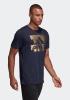 Adidas Bos Foil Maglia Maglietta T-shirt tempo libero Blu Sportswear Cotone