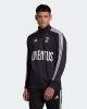 Sport-Sweatshirt JUVENTUS FC Adidas ICONS Baumwolle mit halbem Reißverschluss 2020 21 Mann schwarz