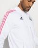 Sports sweatshirt jacket REAL MADRID adidas original Hoodie 3 Stripes Full Zip man 2020 21 White